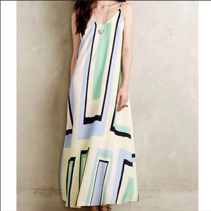 Maeve • Geometric maxi dress